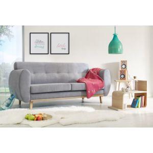 bobochic canap tissu 3 places style scandinave gris 88cm x 91cm x 188cm n a achat vente. Black Bedroom Furniture Sets. Home Design Ideas