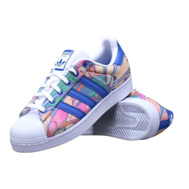 Adidas Chaussure Superstar W S75129 Multi Color pas cher
