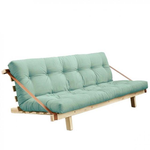 Inside 75 Banquette futon Kristen en pin massif coloris