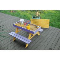 - Table enfant + bac à sable