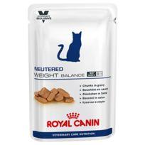 Royal Canin - Bouchées en sauce pour chats Neutered Weight Balance 12 Sachet 100 g