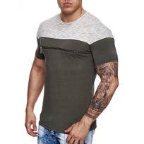 Marque Generique - Tee-shirt mode homme Tee shirt 668 vert
