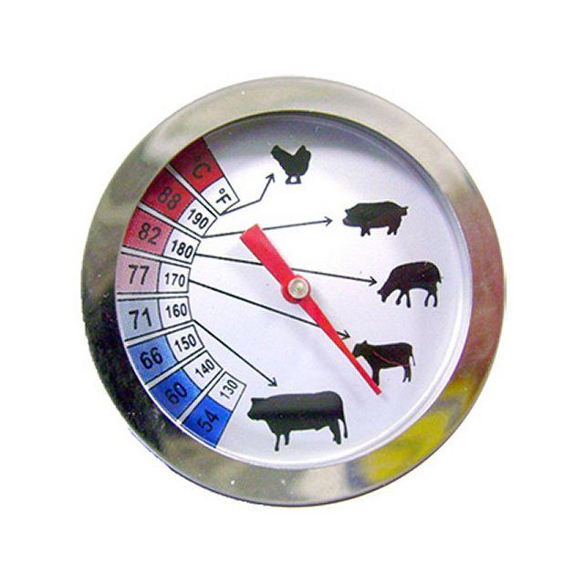Alla Thermomètre à Viande cadran 52 mm avec sonde inox