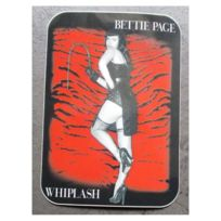 Universel - Sticker bettie page zebre rouge autocollant pin up sexy