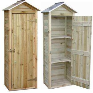 Jardipolys - Petite armoire de jardin en Pin 181x63x43cm - pas cher ...