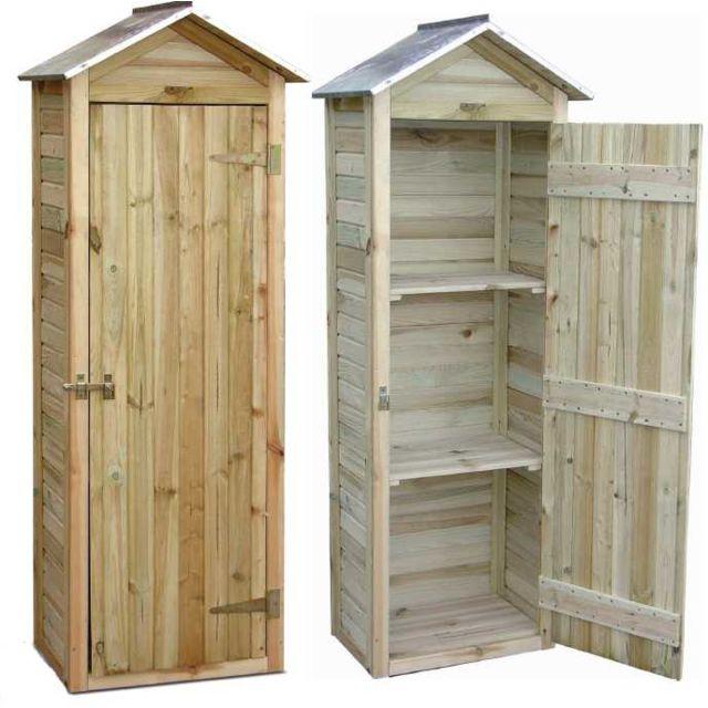 jardipolys petite armoire de jardin en pin 181x63x43cm. Black Bedroom Furniture Sets. Home Design Ideas