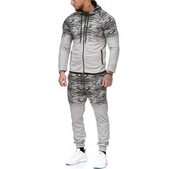 Violento Ensemble jogging camouflage Survêt 1149 gris clair