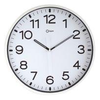 Orium - Horloge silencieuse à quartz D 30 cm blanche
