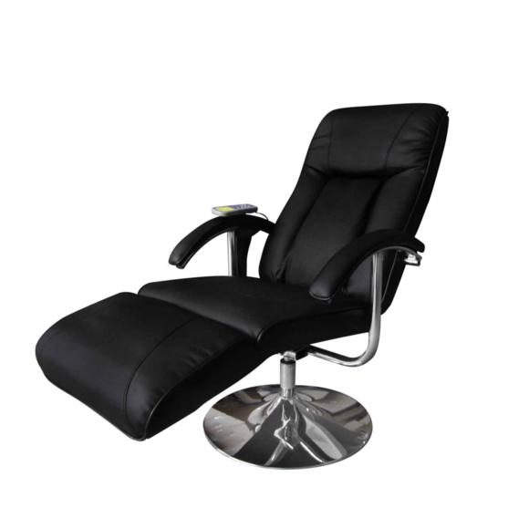 Rocambolesk Superbe Fauteuil de massage et de relaxation électrique noir Neuf