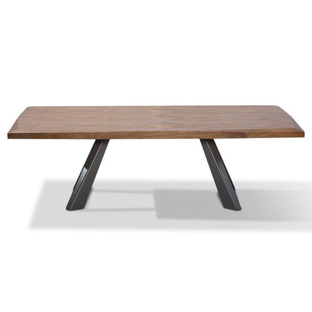 La Maison Du CanapÉ Table basse bois Pune - Noyer - Bois clair
