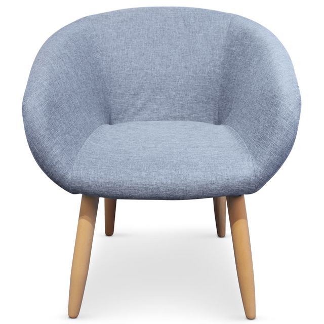 NO NAME - Chaise / Fauteuil style scandinave Frost Bleu