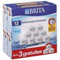 BRITA - pack de 12 cartouches maxtra 9+3 gratuites, pour carafe filtrante - lo7324