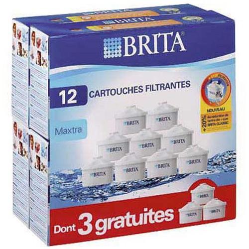pack de 12 cartouches maxtra 9+3 gratuites, pour carafe filtrante - lo7324
