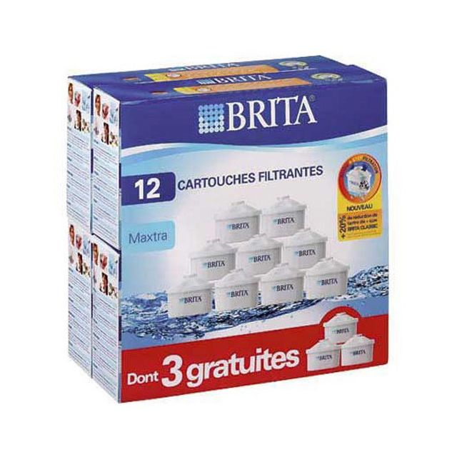 BRITA pack de 12 cartouches maxtra 9+3 gratuites, pour carafe filtrante - lo7324