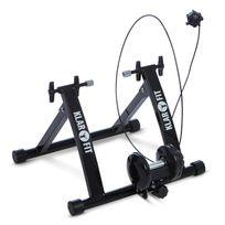 KLARFIT - Tourek Vélo Rouleau Home trainer 26/28 pouces 100kg acier – noir