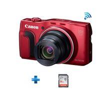 CANON - Pack Débutant Powershot SX710 Hs rouge + Carte SD 16Go