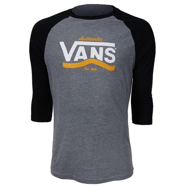 f9cb9d7c76 Vans - Tee-shirt manches courtes Authentic Stripe Raglan - pas cher ...