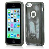 Mols - Coque antichoc Limited Edition coloris bleu métal pour iPhone 5c