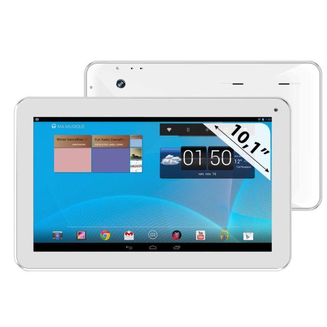 CLUST - CL4C10-WH - Tablette Tactile 10,1'' Capacitif - Processeur Quad Core ARM Cortex A9 1,2 Ghz RAM 1024 Mo - Mémoire 16 Go - Bluetooth 2.1 - Wi-Fi - Android 4.1 Jelly Bean - Blanc