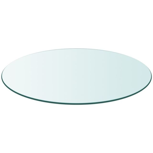 vidaXL Dessus de Table 28 mm 90 cm Pin Naturel Rond Panneau Plaque Feuilles