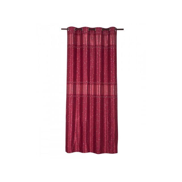 homemaison rideau 80 occultant motifs toiles rouge pas cher achat vente rideaux. Black Bedroom Furniture Sets. Home Design Ideas