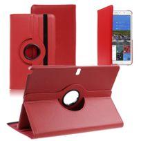 Vcomp - Housse avec support Et Rotation 360° en cuir Pu pour Samsung Galaxy Tab Pro 12.2 Sm-t9000/ Tab Pro 12.2 3G T900/ Tab Pro 12.2 Lte 4G Sm-t905 - Rouge