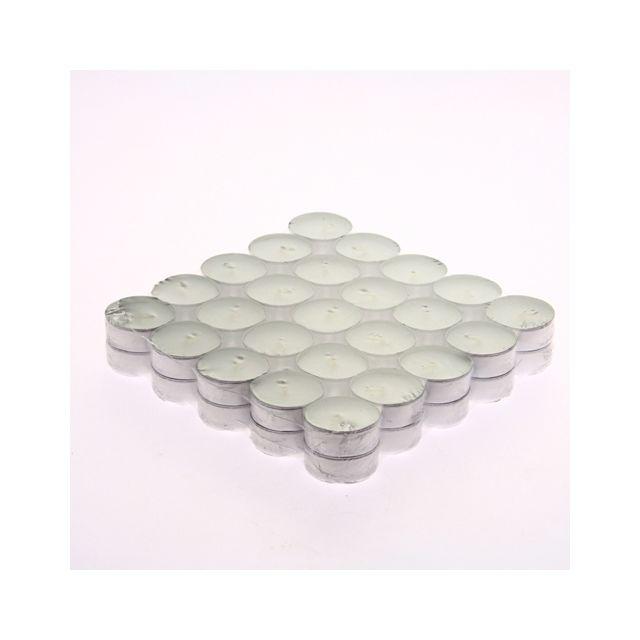 Comptoir Des Bougies Lot de 50 bougies en box - Blanc