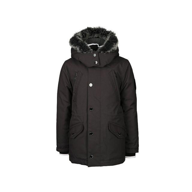 hugo boss parka cadet ref j26321 062 noir pas cher achat vente manteau enfant. Black Bedroom Furniture Sets. Home Design Ideas