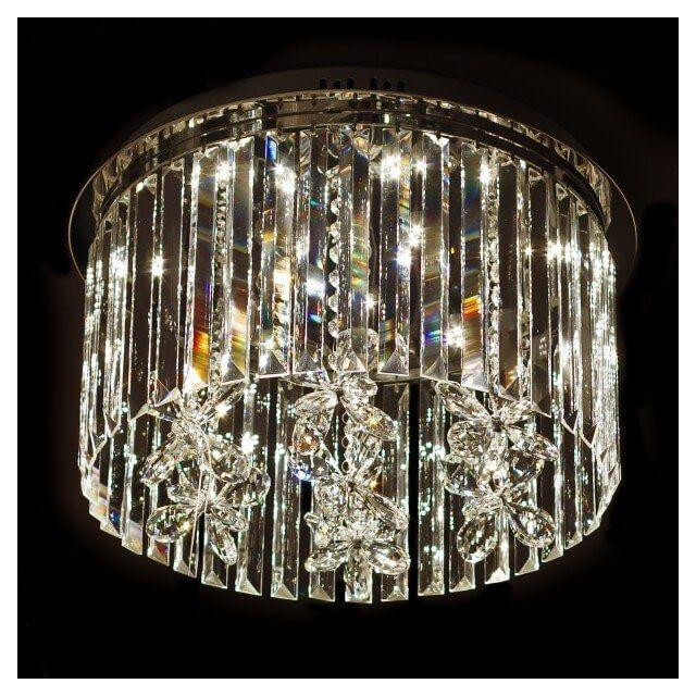 soldes kosilum lustre plafonnier design cristal led 45cm irene 45cm x 30cm x 45cm pas cher. Black Bedroom Furniture Sets. Home Design Ideas