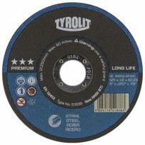 """Tyrolit - Disques à tronçonner Gamme technique """"PREMIUM""""-D125mm-épaisseur 1mm"""