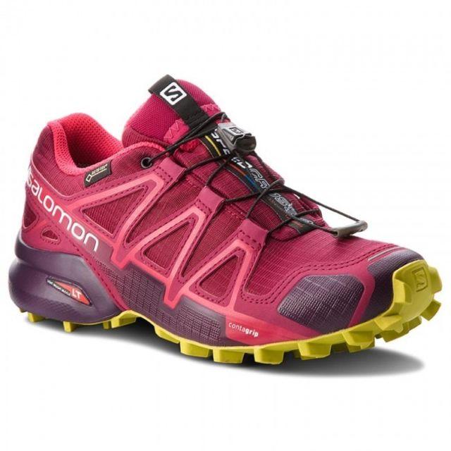 detailed look 37c8b 57405 Salomon - Salomon Speedcross 4 Gtx W Beet Red Chaussures trail salomon  étanche