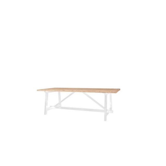 Meubles Europeens Table Style Campagnard Chêne Clair 100cm X