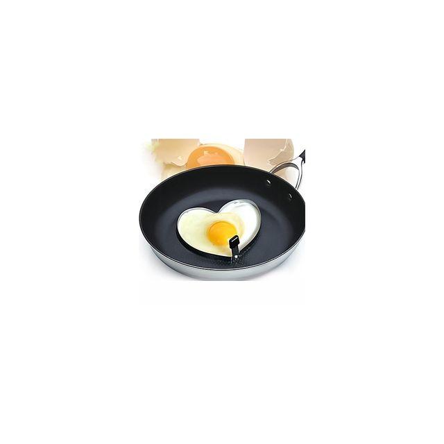 Alpexe Moule a œuf aux plats CŒUR et poignee facile en Inox
