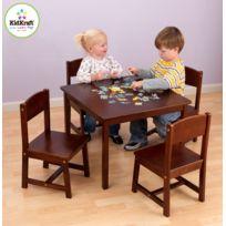 Kidkraft - Table de ferme et ses quatre chaises - Brun