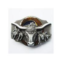 abf73f8623c1 Universel - boucle de ceinture tete de vache longue corne + briquet ...