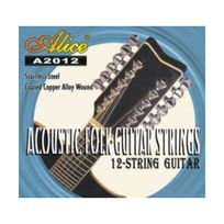 Alice - Jeu de 12 cordes pour Guitare Folk & Electrique ~ sous blister