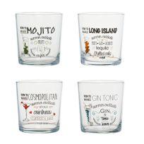 Alinéa - Feria Lot de 4 verres décorés 28cl