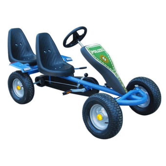 Rocambolesk - Superbe Kart à pédales bleu 2 sièges avec 2 autocollants Neuf