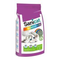 Sanicat - Litiere Rainbow Green 20L - Pour chat