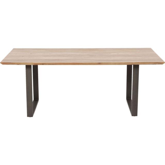 Karedesign Table Symphony acacia acier 160x80cm Kare Design