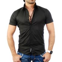 Tazzio - Chemisette homme noir Chemise Tz7020 noir
