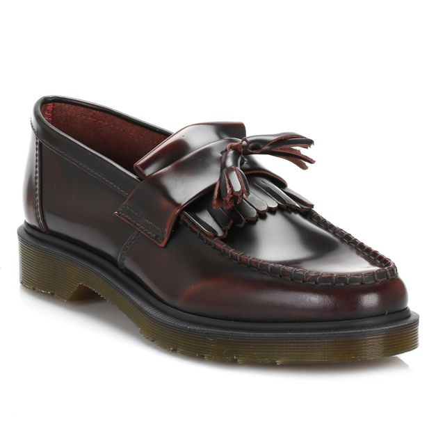 42c21bdcae20 Dr. Martens - Dr. Martens Mens Cherry Red Adrian Leather Loafers-UK 10