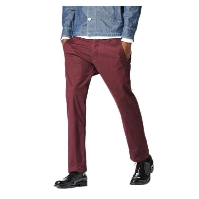 1c1b351a5debb G-star Raw - Pantalon G-star Valdo Bronson Slim Chino Fig Couleur Rougex32
