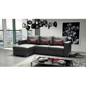 rocambolesk canap joe dolaro noir petit coussin bordeaux sofa divan 248cm x 40cm x 157cm. Black Bedroom Furniture Sets. Home Design Ideas