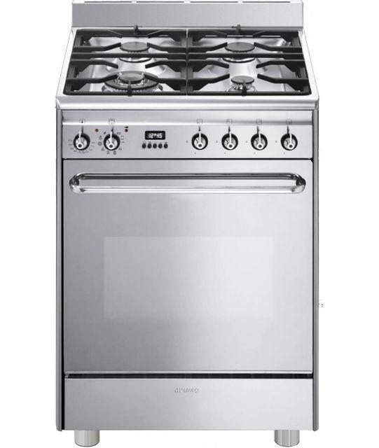 SMEG - Cuisinière Gaz Four Pyrolyse CP60X9 CP 60 X 9, Inox