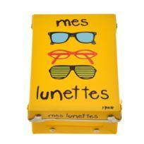 641e041d49 Incidence - Boite de rangement déco en plastique jaune - Mes lunettes