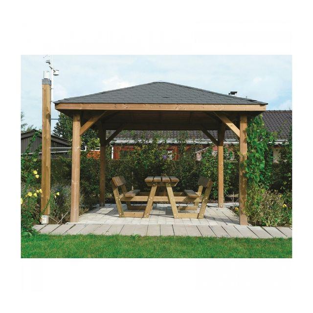 Solid - Abri de Jardin Maisonnette Chalet de Jardin Kiosk 437x437