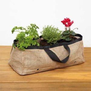 esschert design grande jardini re terrasse en toile de jute pas cher achat vente poterie. Black Bedroom Furniture Sets. Home Design Ideas