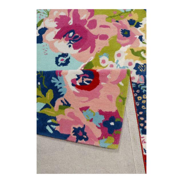 Accessorize Tapis Anglais Floral A Courtes Meches Multicolore