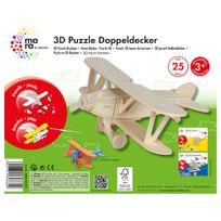 Marabu - Mara Puzzle 3D Avion Biplan pour Enfant de + 3 Ans